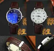 NEW Geneva Mens Roman Numeral Alloy Quartz Classic Dress Watch PU Leather Strap