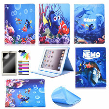 Cute Cartoon Tablet Case for iPad PU Leather Stand Magnetic Protective Cover
