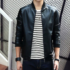 Men's leather and velvet jacket with 2016 new PU male youth Winter Coat slim