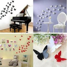 12PCS Sticker Art Design Decal Wall Stickers Home Room Decor 3D Butterfly Decor
