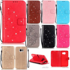 PU Leather Diamond Patterned Case for iPhone Various Phones Magnetic Flip Cover