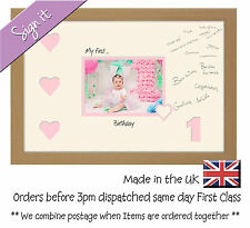 My First Birthday Signing Photo Frame 7x5 Photos in a Word 699D 1st with heart