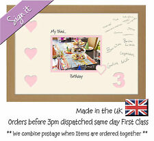 My third Birthday Signing Photo Frame 7x5 Photos in a Word 703D 3rd with heart