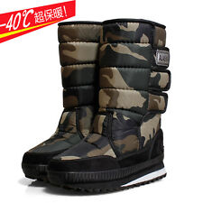 Winter outdoor snow boots men and women warm cotton boots Gaotong thick snow