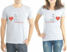 Couple tshirts Couples tshirt - Heart Beats from Lacrafters