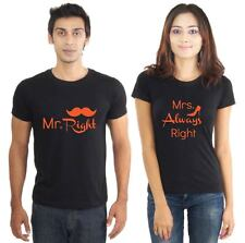 Couples tshirt - Mr and Mrs Right Couples tshirts