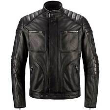 Belstaff Raleigh Blouson Black Waxed Leather Motorcycle Bike Jacket | All Sizes