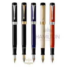 PARKER DUOFOLD CLASSIC FOUNTAIN PEN - Centennial size in 5 luxurious finishes