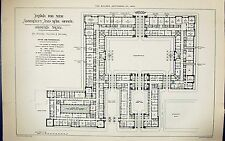 Ground Plan Admiralty War Fice Glover Salter Building 1884 Archit 166G318