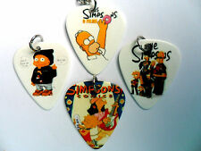 Unusual  SIMPSONS Guitar Plectrum // Picks Double Sided Necklace Four to Choose