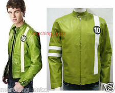 New Soft Genuine Lambskin BEN 10  Movie Film Cartoon Leather Jacket Blazer Coat