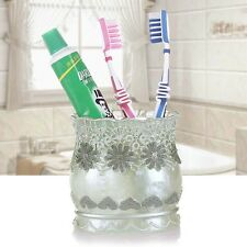 Bathroom Resin Bath Accessories Toothbrush Holder Rose Pattern Toothbrush Stand