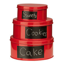 Clifton Set of 3 Storage Tins, With Chalkboard