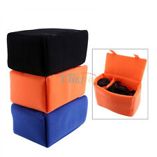 1 Portable Camera Insert Partition Padded Protector Velvet Case Bag For SLR DSLR