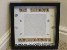 Personalised babies first christmas photo frame baby 1st xmas gift new unique