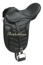 Exclusive Leather Dressage Treeless Saddle in freemax style, 9 Sizes fre acesory