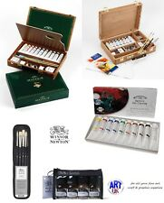 Winsor & Newton Professional ARTISTS OIL COLOUR SETS mayfair wooden box bamboo