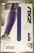 2XU Compression Performance Run Calf Sleeve Pair Lavender Running NEW Unisex L