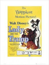 Walt Disney's Lady and The Tramp Kunstdruck 30 x 40 cm