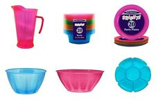 BRIGHT PLASTICWARE / PLASTIC UTENSILS (Jugs/Plates/Bowls/Serving Dishes)