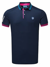 Bunker Mentality Mens CMax Events Polo - Navy RRP £48