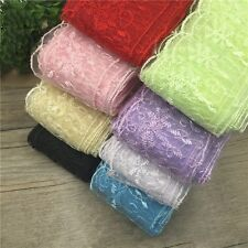 1 Yard Lace Trims Embroidered Tulle Trimmings DIY Bridal Veil Headwear Decor NEW