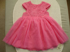 Baby Girls Pink Lace & Netting Dress Age 6-9 months- BNWT George