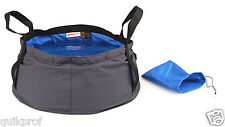 12L Camping Folding Ripstop Cordura Fabric Portable Water Washbasin Quick Dry