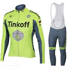 Cycling Jersey & Bib Set Tinkoff Saxo Bank bike Clothing Long Sleeve Pro Team