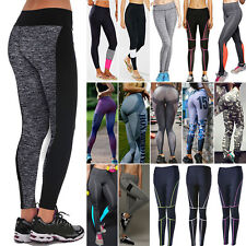 Damen Fitnesshose Yogahose Sport Leggings Yoga Gym Fitness Jogginghose Leggins