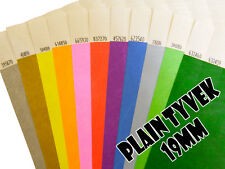 500 (19mm) Plain Tyvek Wristbands for Festivals, events, parties, security