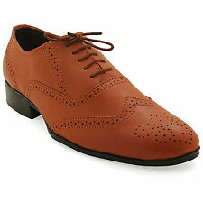 FBT Men's 15870 Tan Brogue Formal Shoes