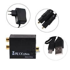 Digital Optical Coaxial Toslink Signal to Analog Audio Converter Adapter L/R RCA