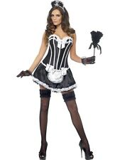 Fever French Maid Costume Ladies Black French Maid Costumes