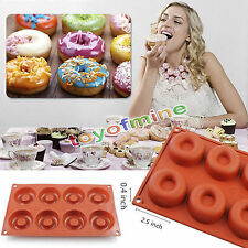 Silicone Donut Muffin Chocolate Cake Candy Baking Mold Mould Pan Donut-Form