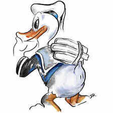 Donald Duck WDCC drawing Donald's Better Self Numbered Limited Edition art print