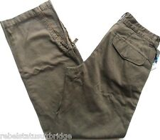 Mens GAS Heavy Cotton Casual Trouser Brown Waist 36 Summer Chino Pant N-TENOS