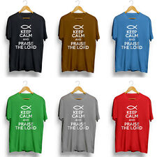 KEEP CALM PRAISE THE LORD - Mens Jesus God Gospel Christmas Gift For Dad Bro Him
