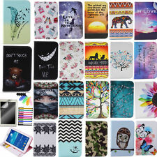 Cute Patterns Tablet Case for iPad PU Leather Magnetic Stand Wallet Flip Cover