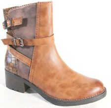 MARCO TOZZI WOMENS LADIES ANKLE BOOTS TAN/BROWN NEW IN, FAUX LEATHER BOOTS
