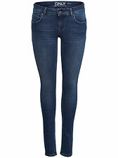 ONLY Damen Denim Hüft Jeans Hose DYLAN LOW SK PUSHUP REA 1458 NOOS Skinny blau