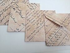 Vintage Style Hand Crafted Envelopes Vintage Music or Vintage French Writing