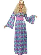 Flower Child Fancy Dress Costume Ladies Purple 60s and 70s Costumes