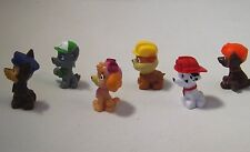 Paw Patrol toy figures, 6 to collect Chase, Rocky, Rubble, Zuma, Marshall, Skye