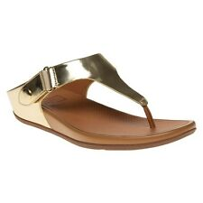 New Womens FitFlop Metallic Gladdie Toe-Post Leather Sandals Flip Flops