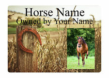 Custom Personalised Photo Name Plaques Horse 10 Pony Stable Door Aluminium Sign