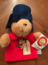 PADDINGTON BEAR Hand Puppet Red Coat Blue Hat Plush Toy Vintage  Sears