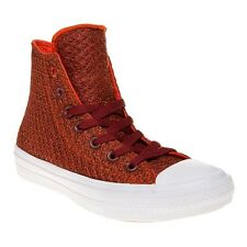 New Womens Converse Red Chuck Taylor All Star II High Textile Trainers Canvas