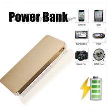 10000MAH THIN POWER BANK USB EXTERNAL BATTERY PACK CHARGER FOR IPHONE IPAD F6