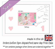 My First Birthday Signing Photo Frame 7x5 Photos in a Word 699DW 1st with heart